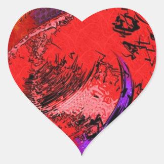 Litografía de Red Hat Pegatina En Forma De Corazón