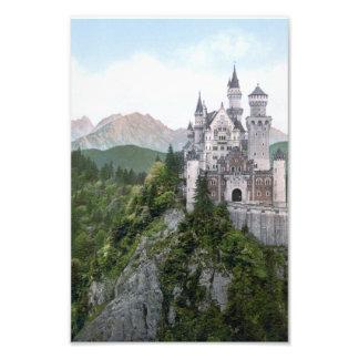 Litografía del castillo de Neuschwanstein Impresiones Fotograficas