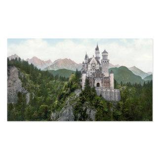 Litografía del castillo de Neuschwanstein Plantillas De Tarjetas De Visita