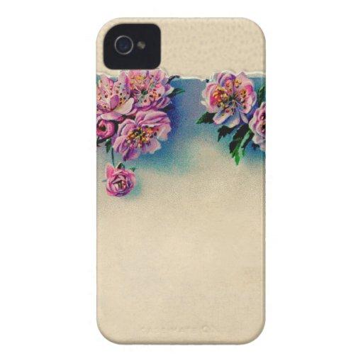 Litografía del vintage de flores de cerezo; iPhone 4 Case-Mate carcasas