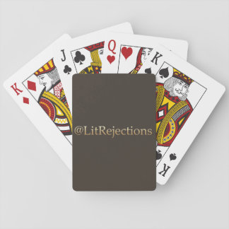 @LitRejections Playing Cards