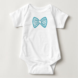 Litte Boy Bow tie Funny shirt Baby bodysuits Blue