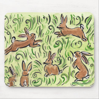 Litte Brown  Bunnies Mouse Pad