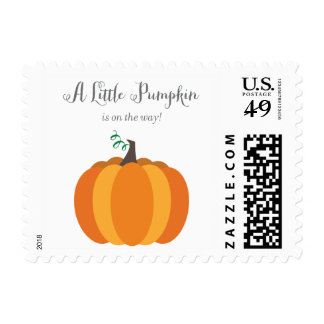 Litte Pumpkin Fall Baby Shower Stamps, Boy Postage