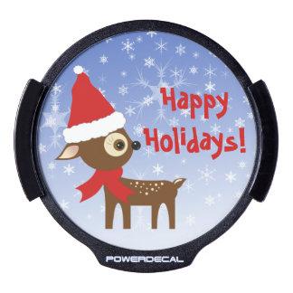 Litte Reindeer Happy Holidays LED Light For Car LED Window Decal