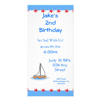 Litte Sailboat Nautical Birthday Card