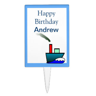 Litte Ship Nautical Birthday Cake Toppers