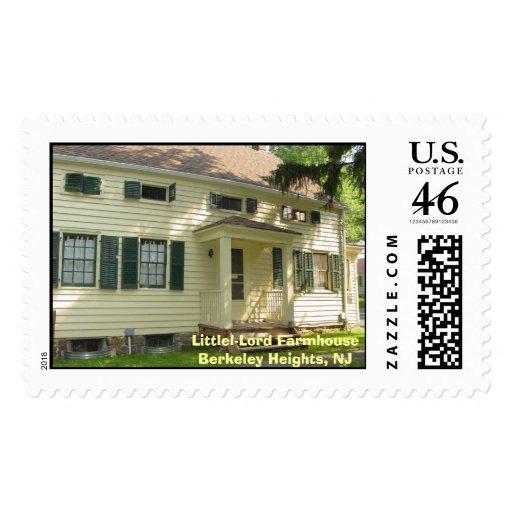 Littell-Lord Farmhouse, Berkeley Heights NJ, Li... Postage Stamps
