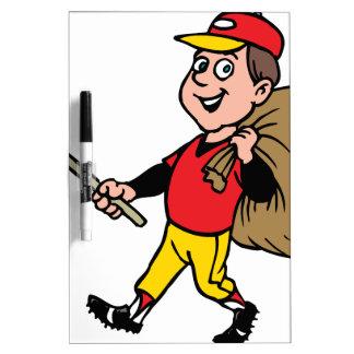 Litter Clean boy scout good jolly kid Dry-Erase Board
