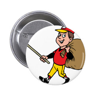 Litter Clean boy scout good jolly kid Pinback Button