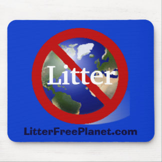 Litter Free Planet Mouse Pad