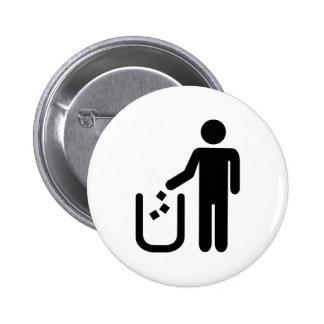 Litter waste garbage button