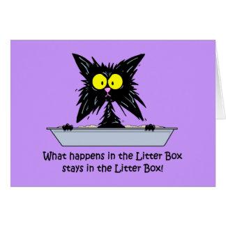 Litterbox Cat Greeting Card