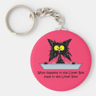 Litterbox Cat Keychain
