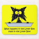Litterbox Cat Mouse Pad