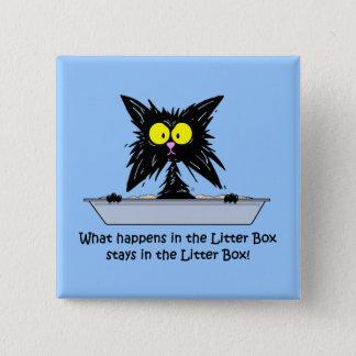 Litterbox Cat Pinback Button