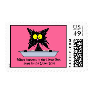 Litterbox Cat Postage