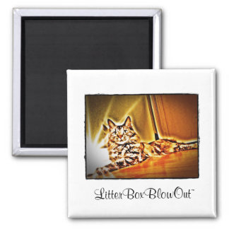 LitterBoxBlowOut 2 Inch Square Magnet
