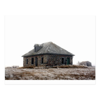 Little abandoned House on the Prairie Postcard