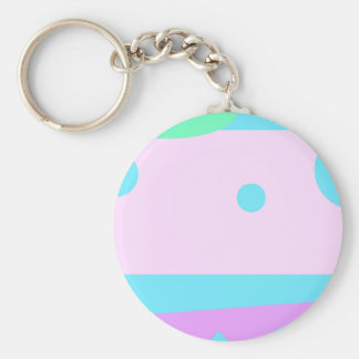 Little Abstract Monster or Abstract landscape Keychain