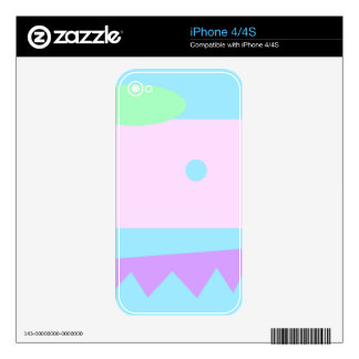 Little Abstract Monster or Landscape Skins For iPhone 4S