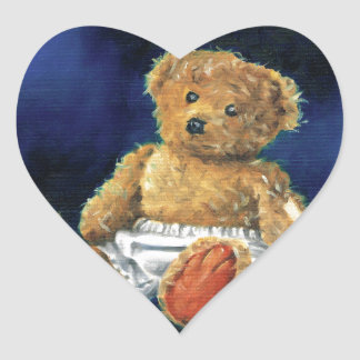Little Acorn, a Favourite Teddy Heart Sticker