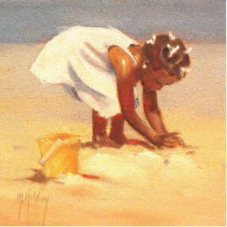 Little African Girl on Beach Cutout