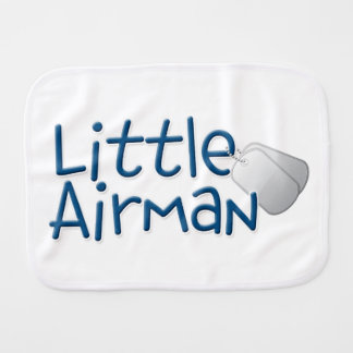 Little Airman Burp Cloth