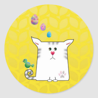 Little Alfie Easter yellow Classic Round Sticker