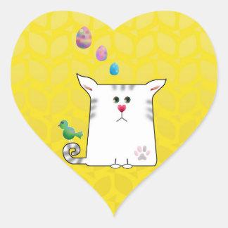 Little Alfie Easter yellow Heart Sticker