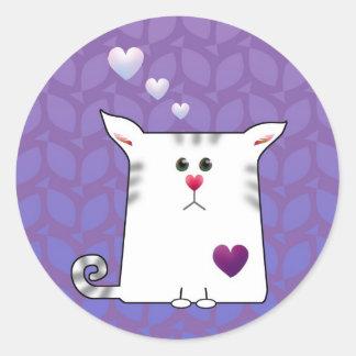 Little Alfie purple Classic Round Sticker