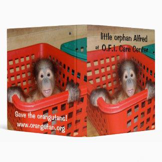 Little Alfred -  Baby Orangutan Binder