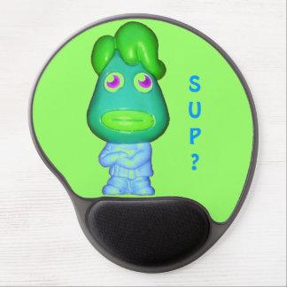 """Little Alien asks, """"Sup?"""" Gel Mouse Pad"""