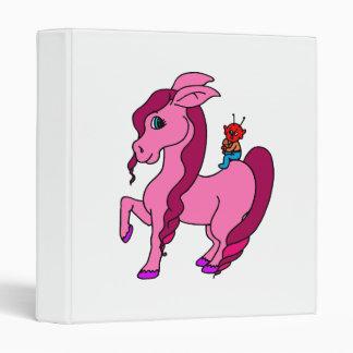 little alien on pink pony 3 ring binders