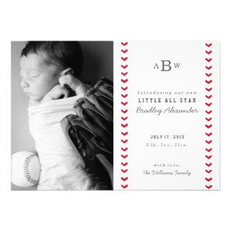 Little All Star Birth Announcement