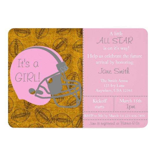 Little all star themed girl baby shower invitation zazzle little all star themed girl baby shower invitation filmwisefo