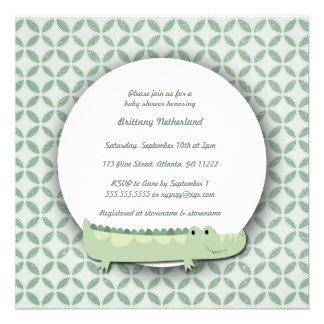 Little Alligator Square Baby Shower Invite