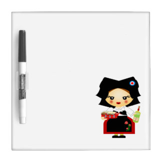 Little Alsacian girl Dry Erase Whiteboards