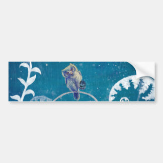 Little Amethyst Owl Bumper Sticker