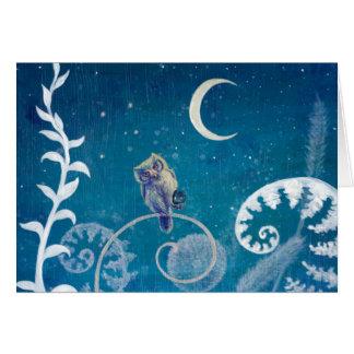 Little Amethyst Owl Card