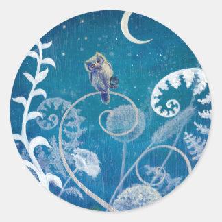 Little Amethyst Owl Classic Round Sticker