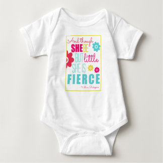 Little and Fierce - Bright & Colorful Baby Bodysuit