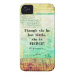 Little and Fierce quotation by Shakespeare iPhone 4 Case