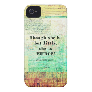 Little and Fierce quotation by Shakespeare iPhone 4 Case-Mate Case
