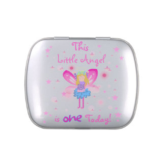 Little Angel 1st Birthday Candy Tins and Jars