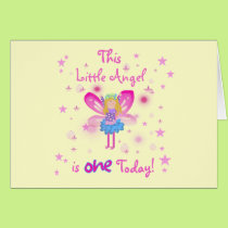 Little Angel 1st Birthday Tshirts and Gifts Card
