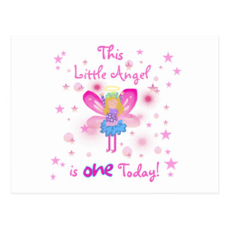 Little Angel 1st Birthday Tshirts and Gifts Postcard