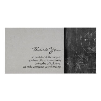 Little Angel 2- Child Drawing - Sympathy Thank You Photo Card