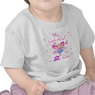 Little Angel 2nd Birthday T Shirts