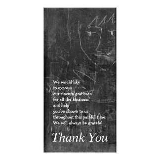 Little Angel 3 Child Drawing Sympathy Thank You Card
